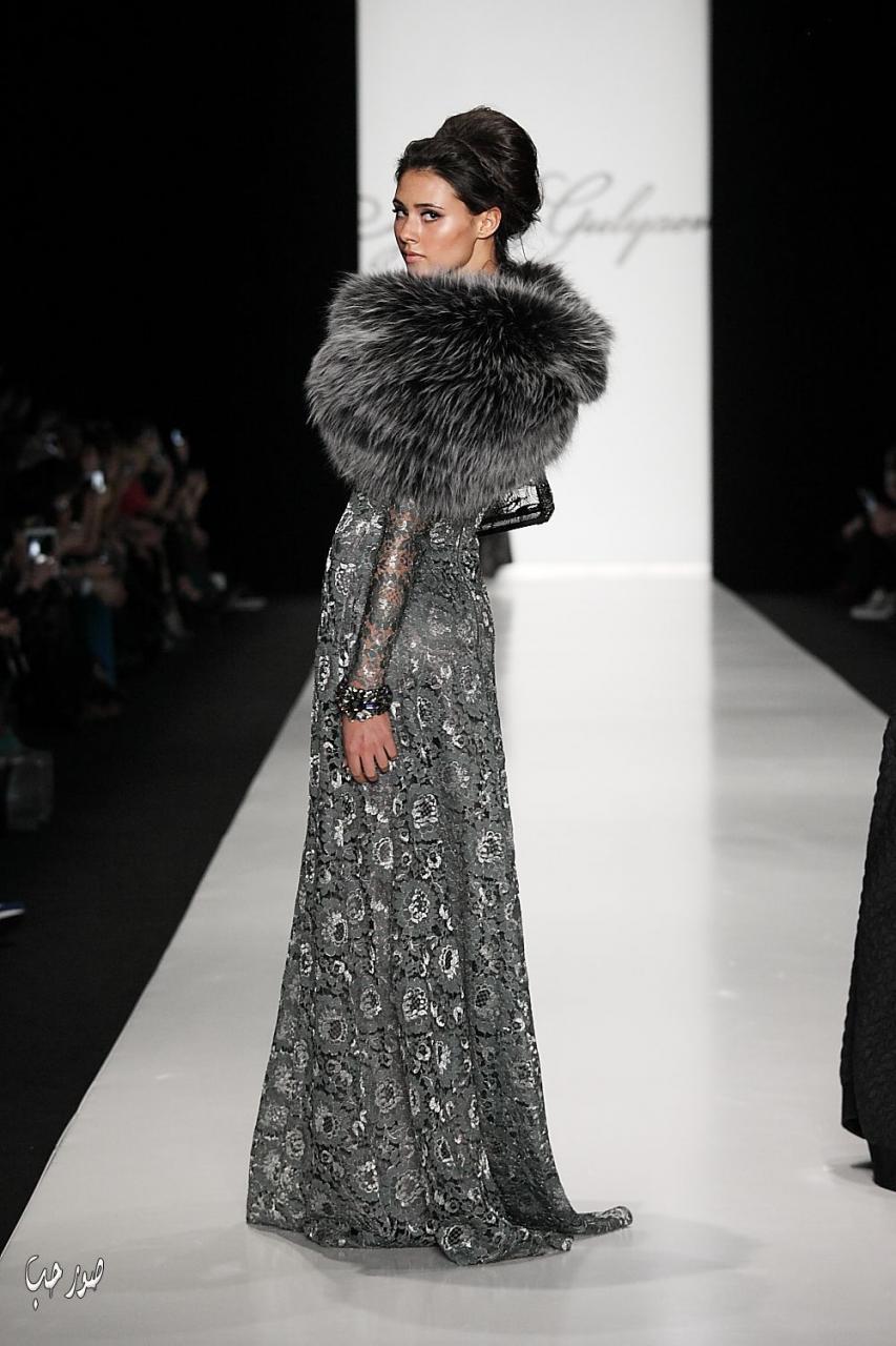 صورة فساتين سهرة شتوية , اروع تشكيلات لفساتين سواريه شتويه