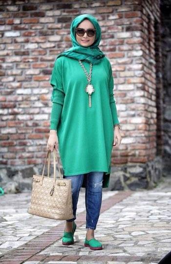 صورة صور ملابس المحجبات 2019 , واااو احلي استايلات للمحجبات 3297 4