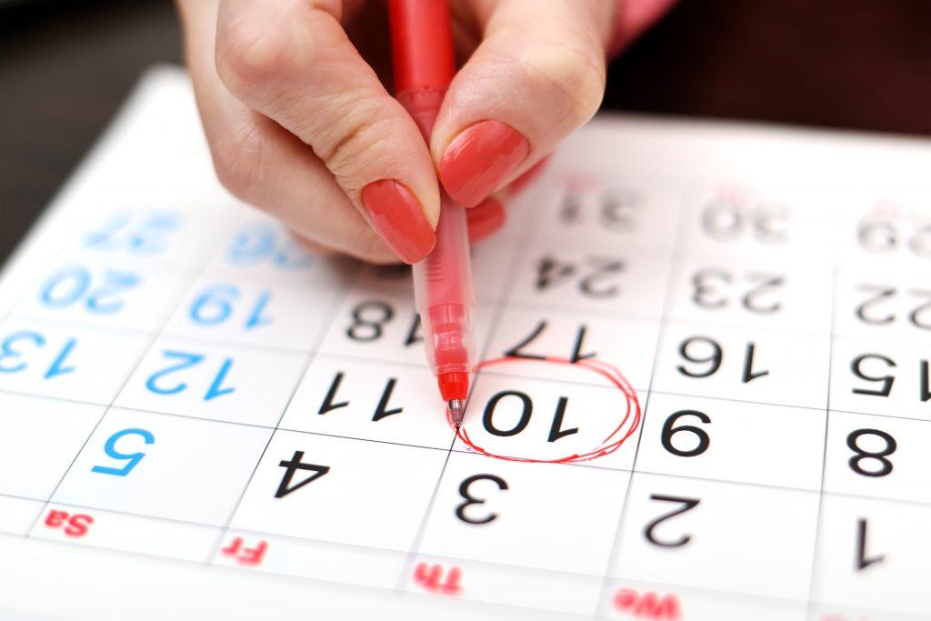 صورة كم عدد ايام الدورة الشهرية الطبيعية , المده الصحيحه للدوره الشهريه