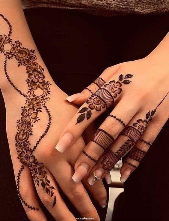 صورة النقش المغربي بالحناء , شاهدي معنا اروع نقوشات الحنه بالنقش المغربي
