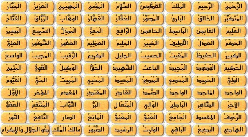 خواص أسماء الله الحسنى pdf