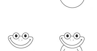 صورة طريقة رسم الضفدع , اسهل طرق لرسم الضفدعه