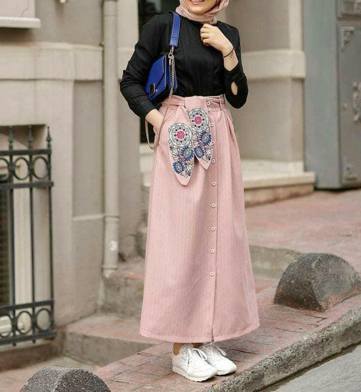 صورة ملابس محجبات جيبات وبلوزات , احدث طله للمحجبات 2487 3