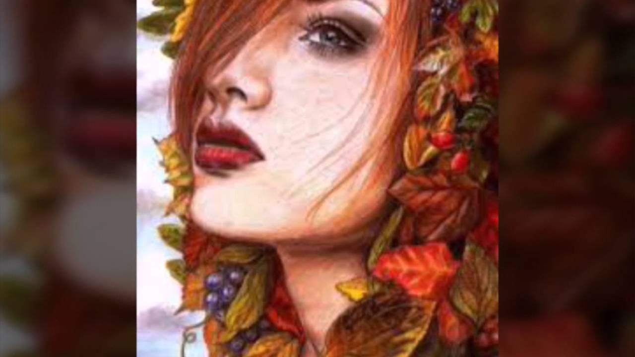 صورة لوحات زيتيه لنساء , جمال النساء في لوحات الزيت