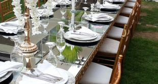 صورة تنسيق طاولة الطعام , تنسيق الادوات و الشكل الجمالي لمائدة الطعام