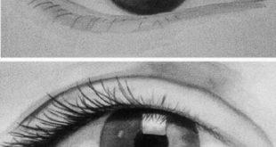 صورة خطوات رسم العين , كيف تتعلم ان ترسم عينيك بسهولة