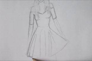 صورة تصاميم فساتين رسم , كيف تتعلمين تصاميم فساتين