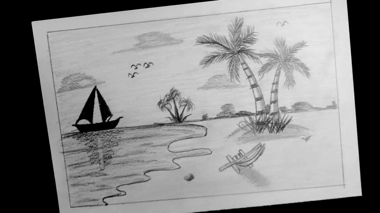 كيف ارسم البحر بقلم الرصاص لم يسبق له مثيل الصور Tier3 Xyz