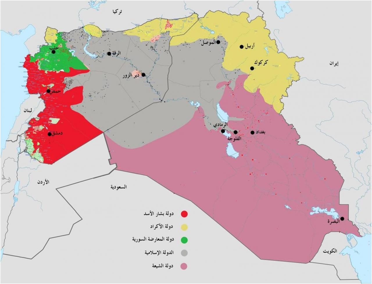 خريطة العراق وسوريا اهم واجمل الاماكن السياحة في سوريا والعراق