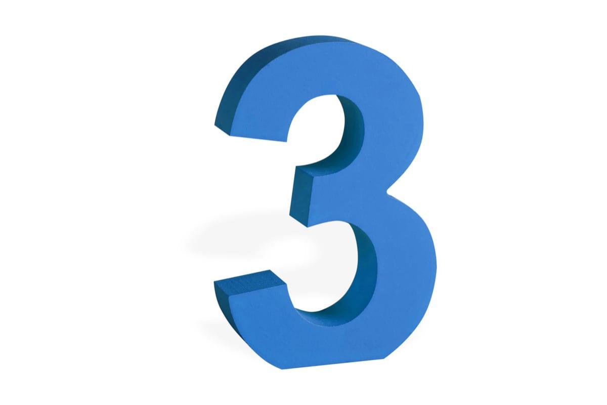 صورة الرقم 3 في المنام , ما معني رقم 3 في الحلم