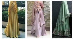 صورة موديلات حجاب طويل , الحجاب الطويل باحدث موديلاته