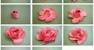 طريقة عمل وردة بالشرائط للهدايا , اسهل الطرق لصنع الورد للتزيين