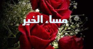 صورة اجمل مساء علي احلي ناس , مساء الخير ورد