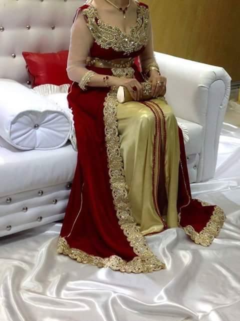 صورة هل انتي عروسة وتريدي فستان غير تقليدي , قنادر اعراس جزائرية جديدة